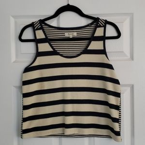 Madewell Navy and creme stripe tank top